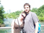 On the bridge to Goat Island, Niagara Falls NY